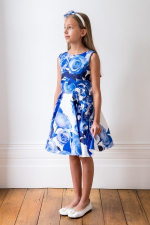 Blue Rose Birthday Gown