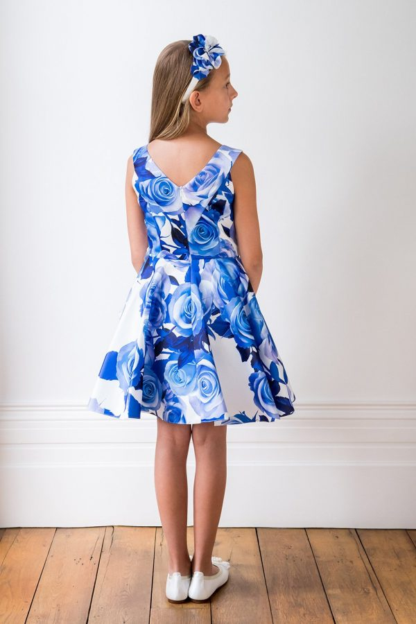 Blue Rose Birthday Gown