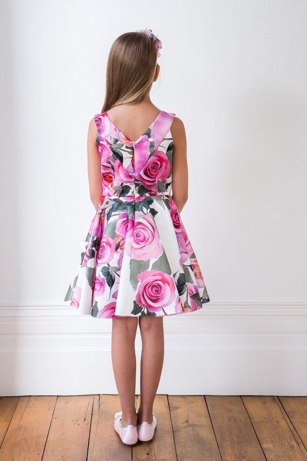 Pastel Rose Bouquet Birthday Gown