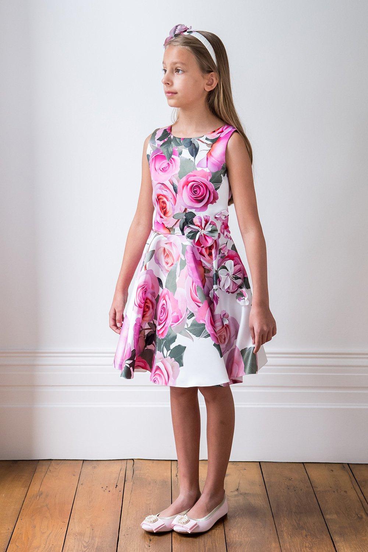 Vestido de cumpleaños en rosa pastel - David Charles Childrens Wear