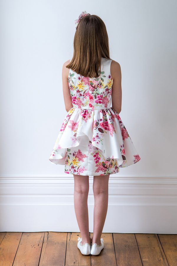 Ivory and Peony Pink Dress