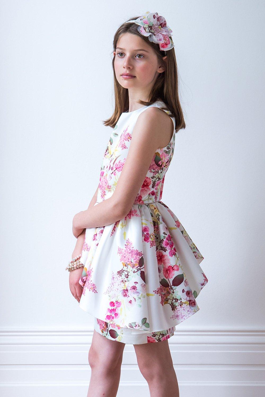 Ivory and Peony Pink Dress