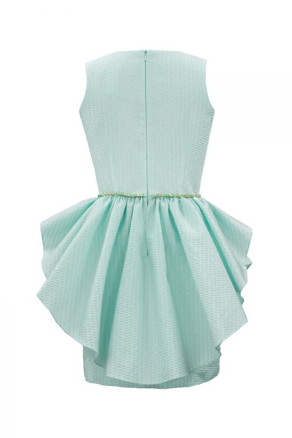 Turquoise Spring Waterfall Dress