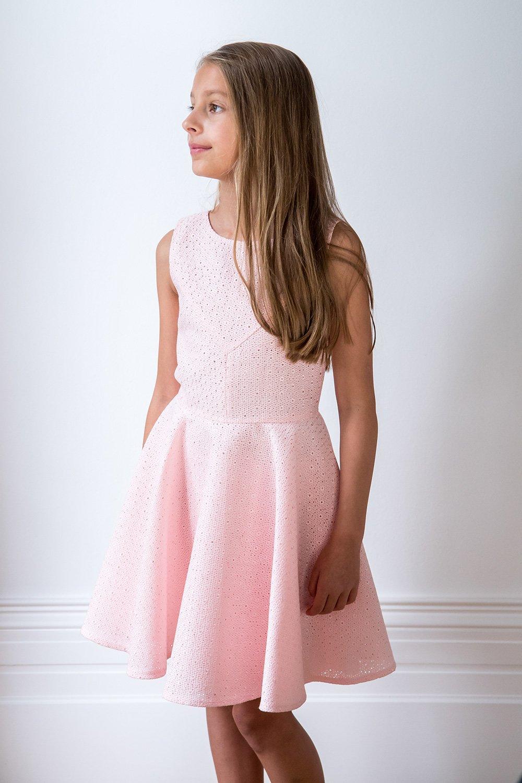Candyfloss Pink Skater Dress David Charles Childrens Wear