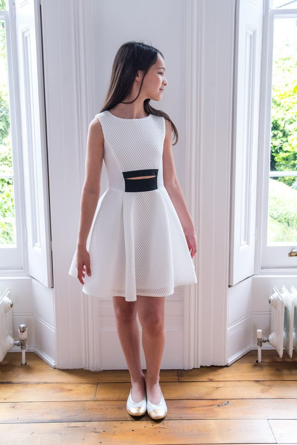 Ivory and Black Fashion Dress