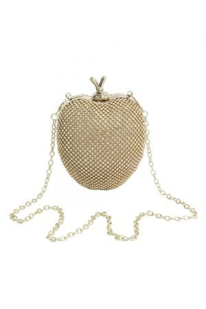 Jewel Gold Apple Clutch Bag