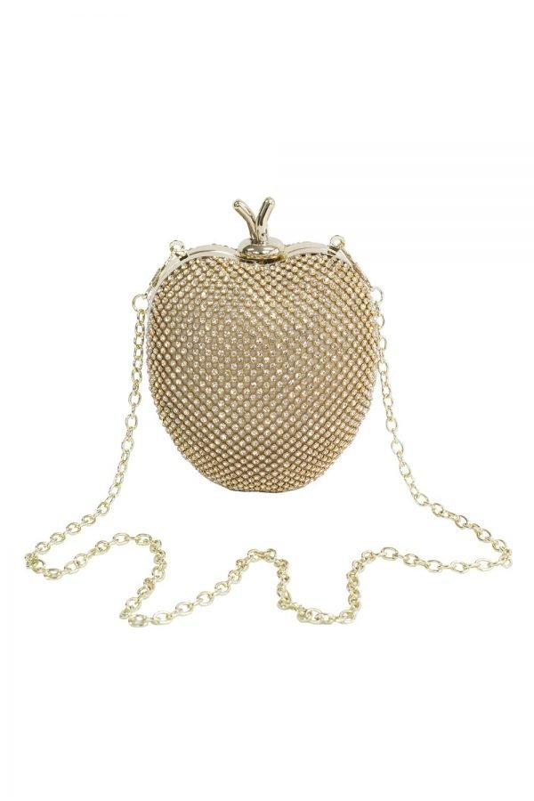 Jewel Gold Apple Clutch Bag