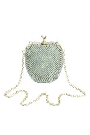 Jewel Turquoise Apple Clutch Bag
