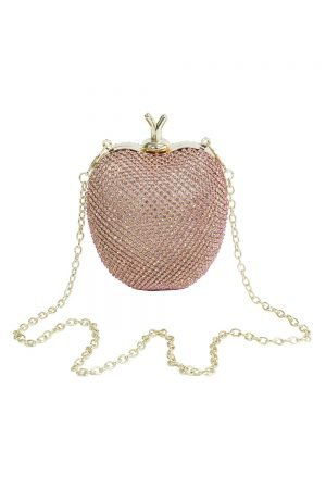 Jewel Pink Apple Clutch Bag