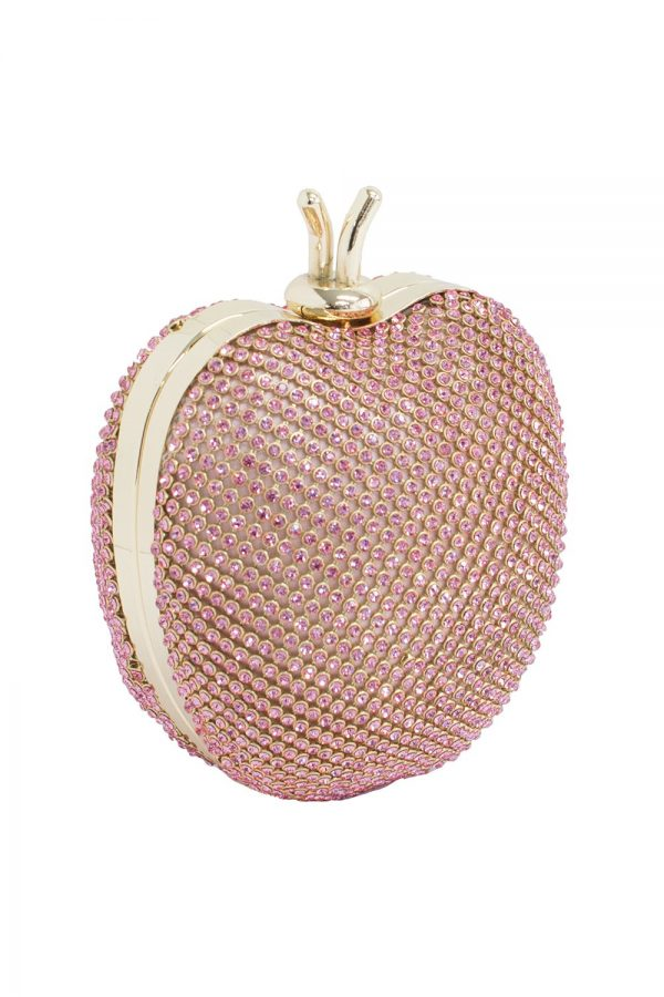 Jewel Pink Apple Clutch Bag