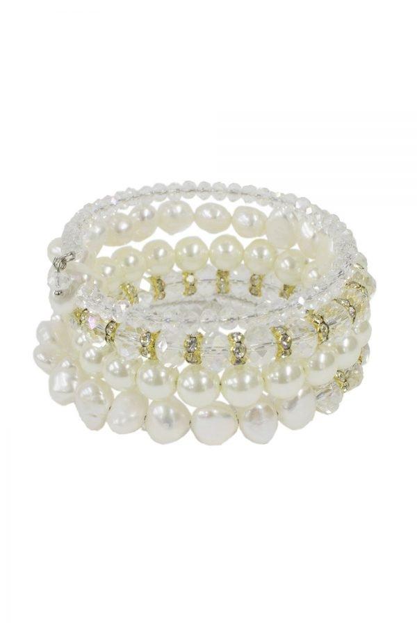 Freshwater Pearl Ivory Gold Bracelet
