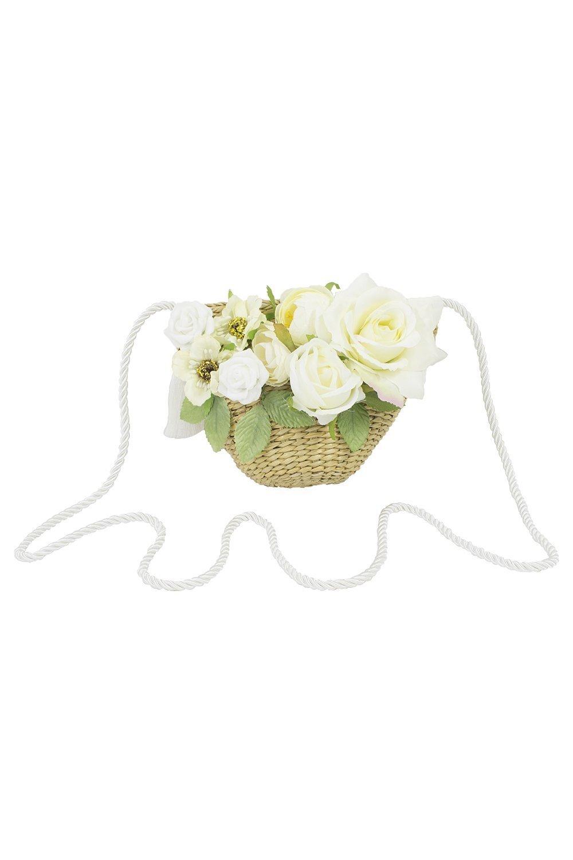 Ivory Bloom Basket Bag