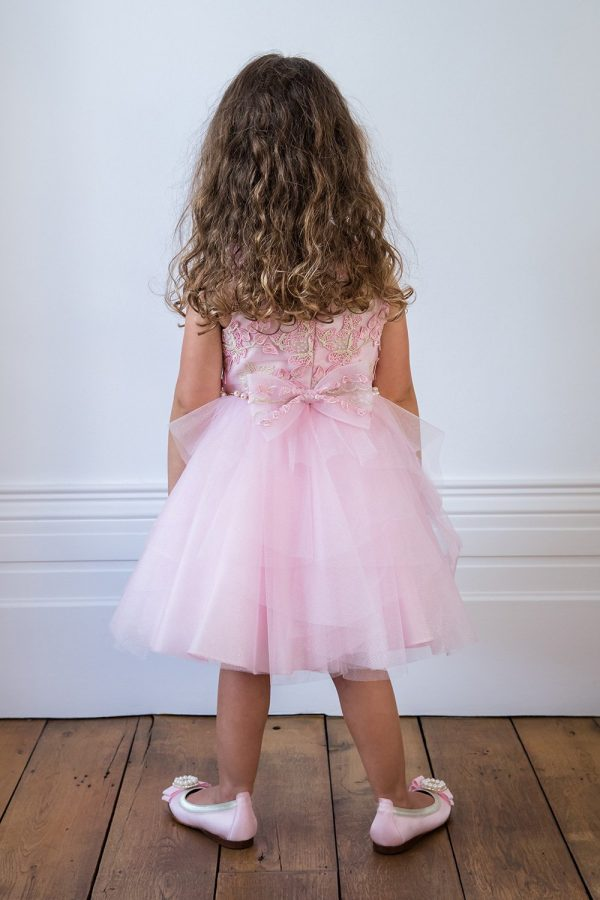 Candy Pink Butterfly Ball Gown