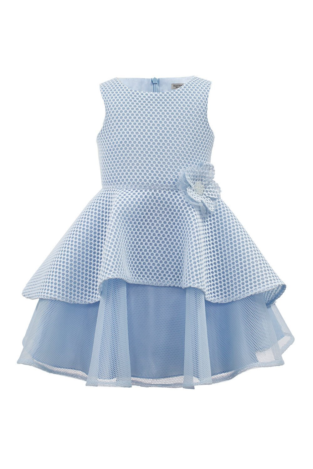 Pastel Blue Tea Dress - David Charles Childrens Wear