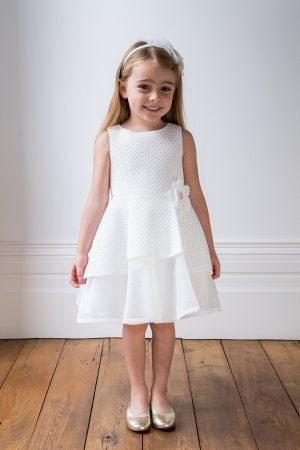Ivory Corsage Summer Dress
