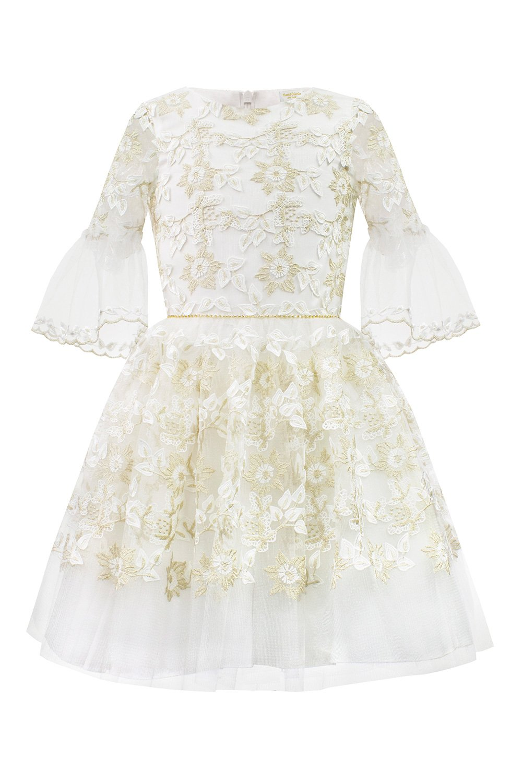 9fa05bcf Ivory Floral Bridesmaid Dress - Bursdags kjoler til jenter - David ...