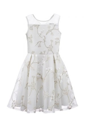 Ivoor en brons Daisy Party Gown