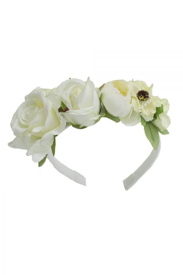 Ivory Botanical Rose Hair Band