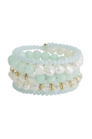 Turquoise and Mint Julep Bracelet