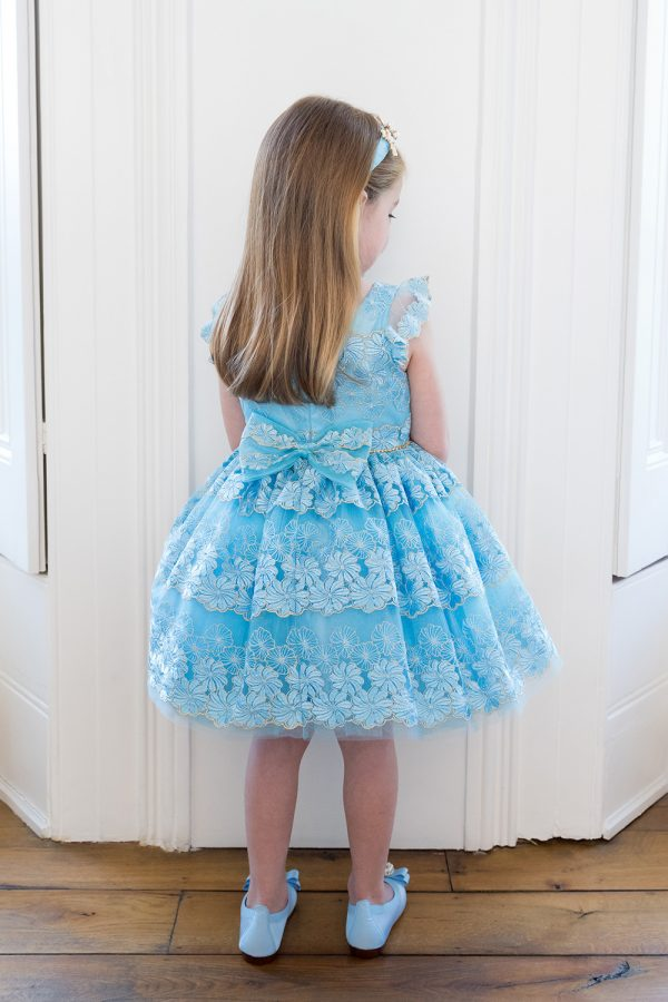 Pastel Blue Floral Layer Dress