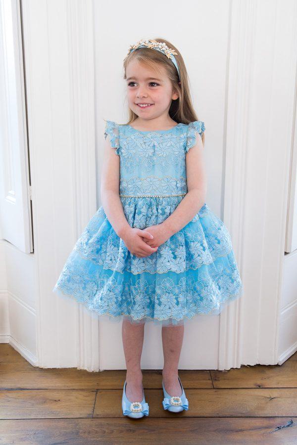 Accesorios para vestido azul pastel