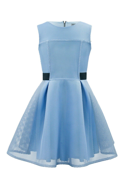 Powder Blue Brautjungfer Kleid - David Charles Childrens Wear