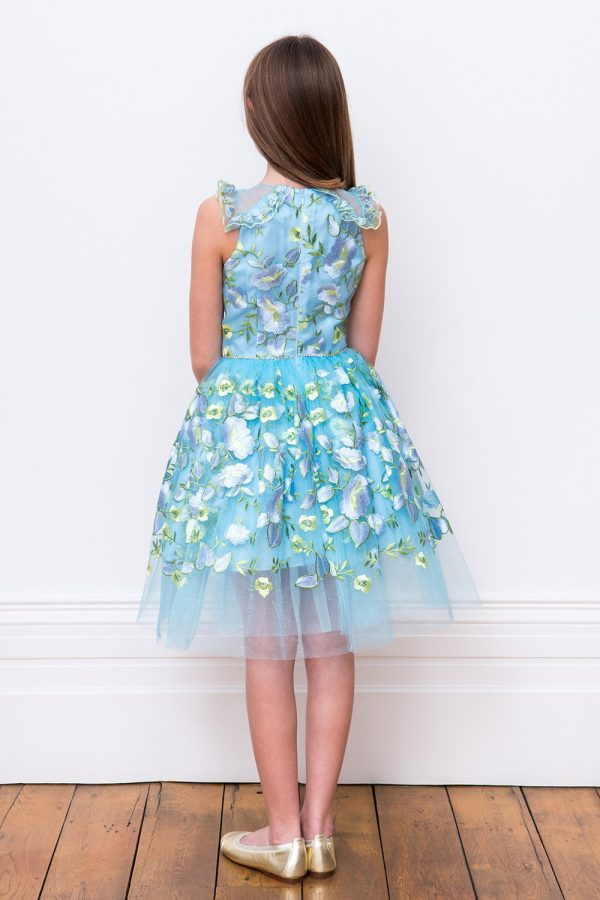 Blue Petal Sweetheart Dress
