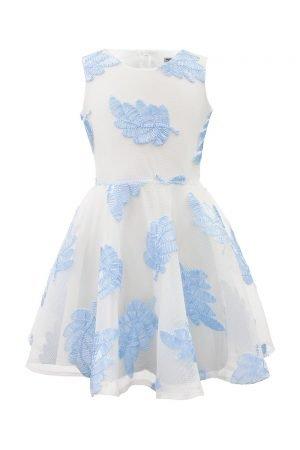 Diamond Blue Leaf Summer Dress
