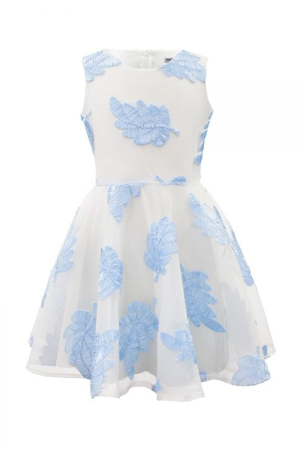 Diamond Blue Leaf Summer Dress