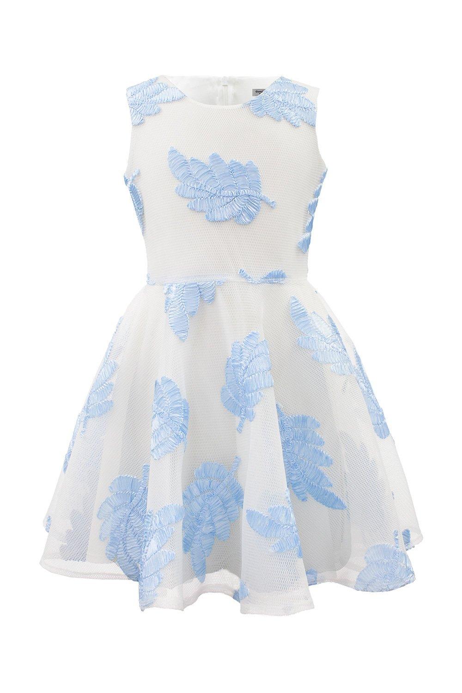 3810699d969 Бриллиантовое синее лиственное летнее платье - Дэвид Чарльз Детская ...
