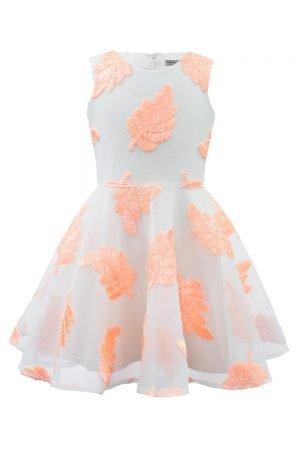 Blush Pink Leaf Summer Dress