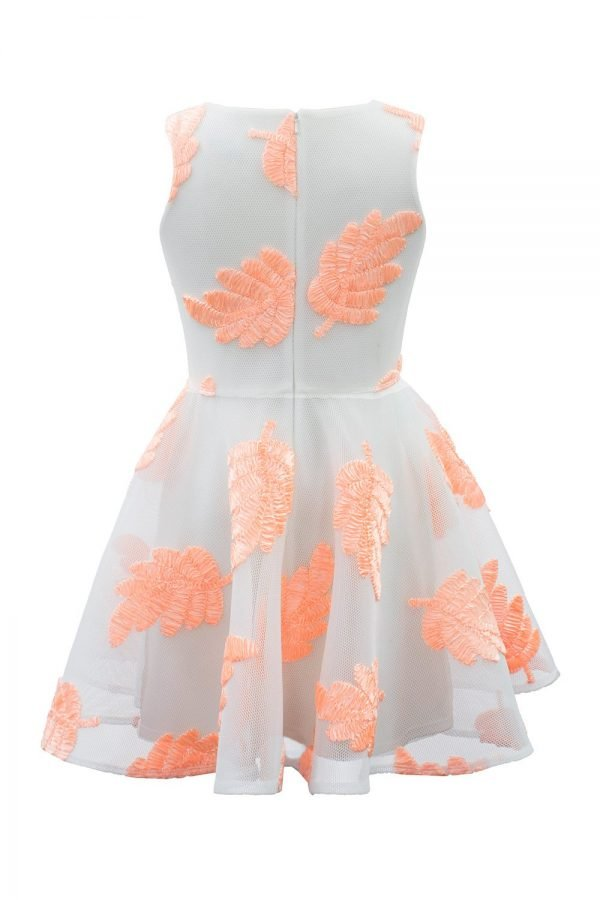 Blush Pink Leaf Summer Dress