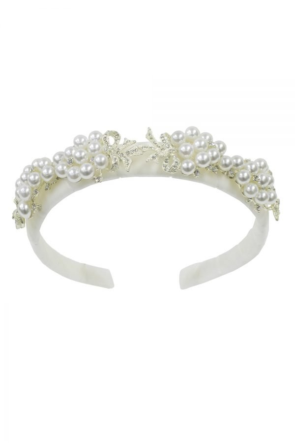 Ivory Pearl Birthday Hair Band