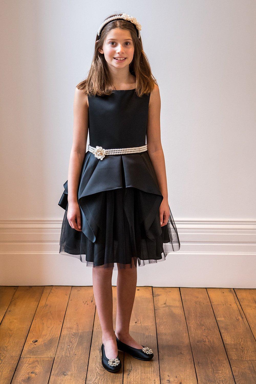 457220ffd2 Fekete és Ivory Pearl Prom Dress - David Charles Gyermekruházat