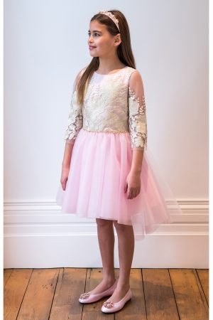 Sugar Pink and Gold Starlet Gown