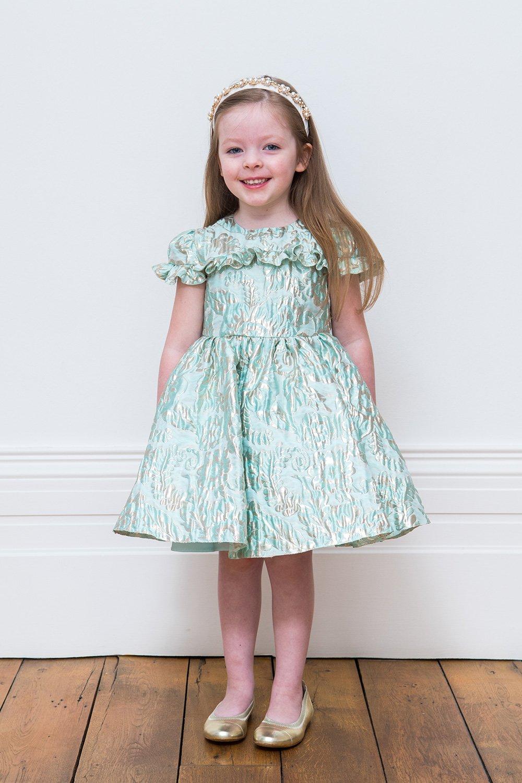 eb345bf54498 Τιρκουάζ μοτίβο μοτίβο φόρεμα - David Charles παιδικά φορέματα