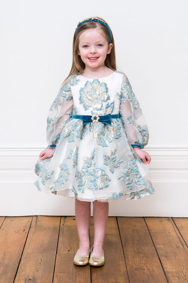 Ice Blue Flower Dress