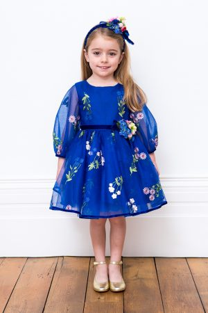 Royal Blue Floral Bloom Gown