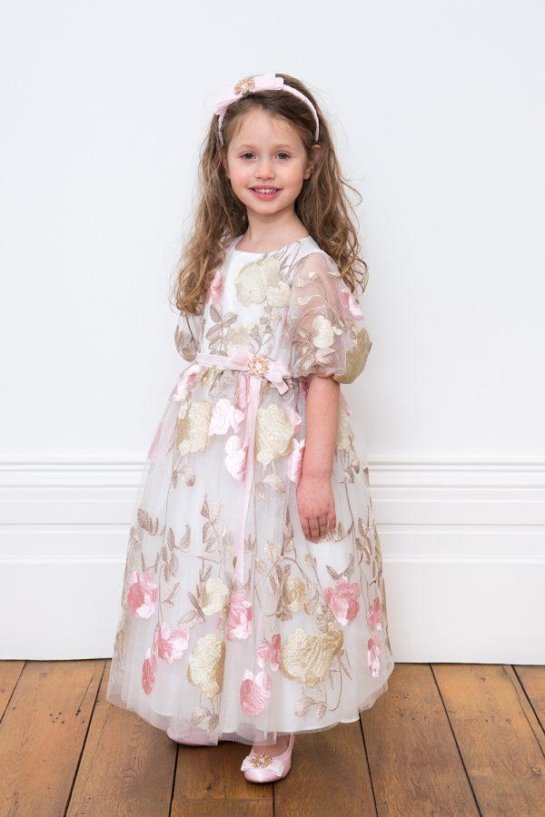 Ivory Pink and Gold Dream Dress