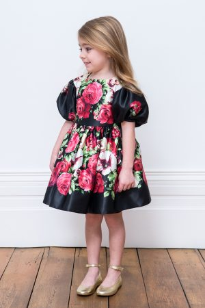 Black Floral Birthday Gown