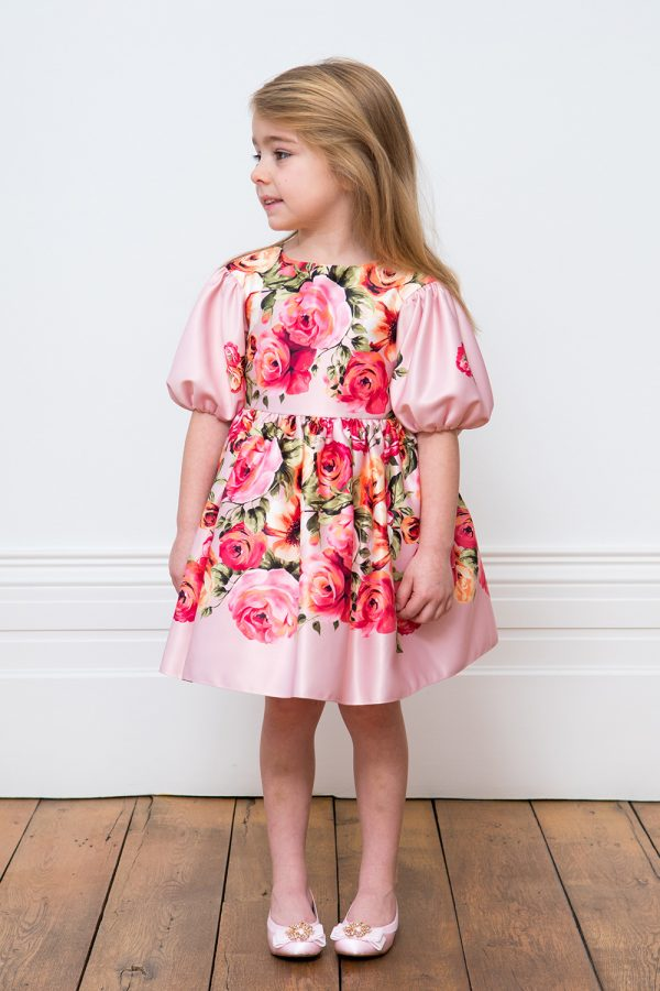 Pink Floral Birthday Gown