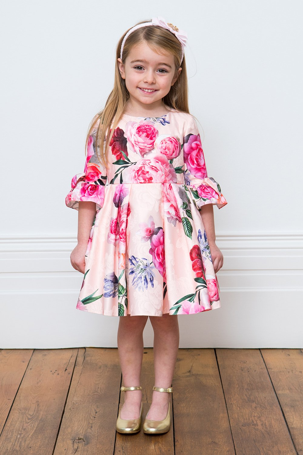 Vestido rosa de Peony Bouquet - David Charles Childrens Wear