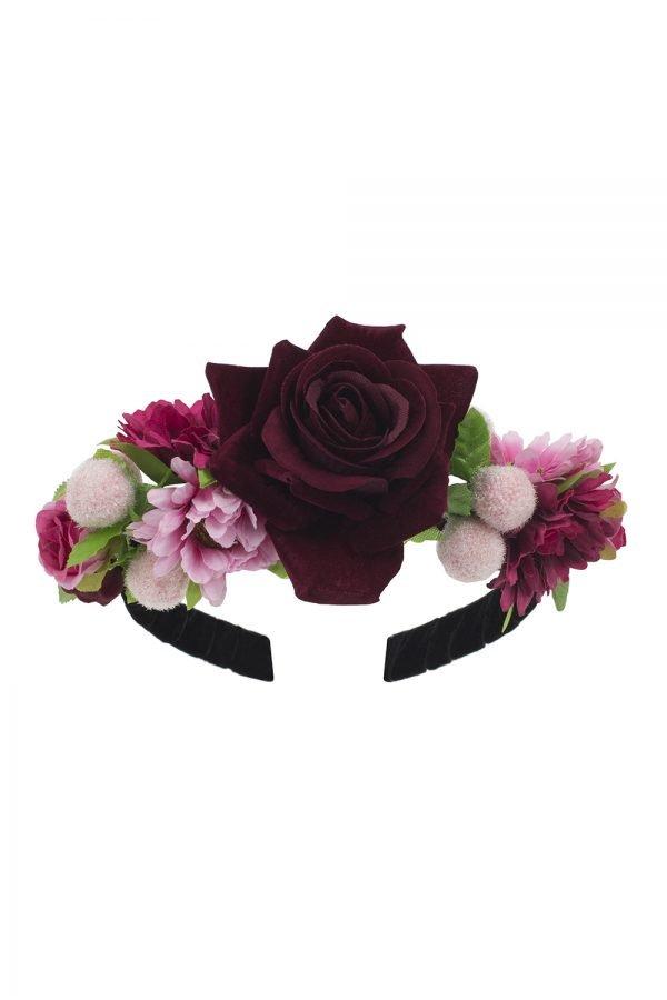 Black Bouquet Alice Band