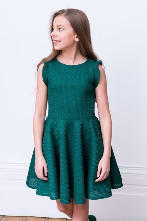 Green Ruffled Prom Dress