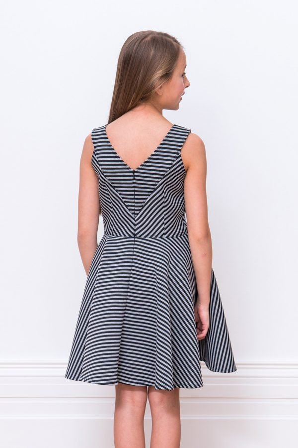 Black and Grey Skater Dress