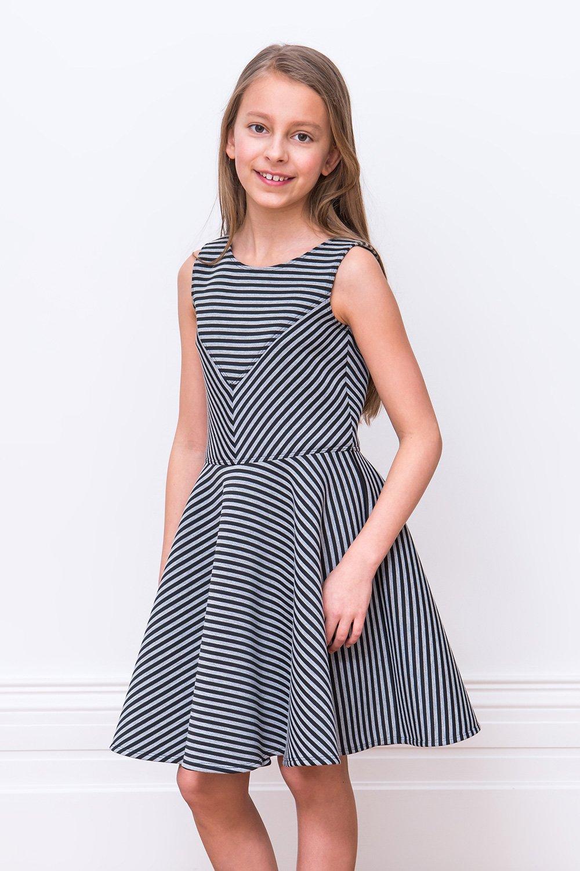 49479d7399d4 Μαύρο και γκρι παπουτσιών φόρεμα - David Charles παιδικά φορέματα