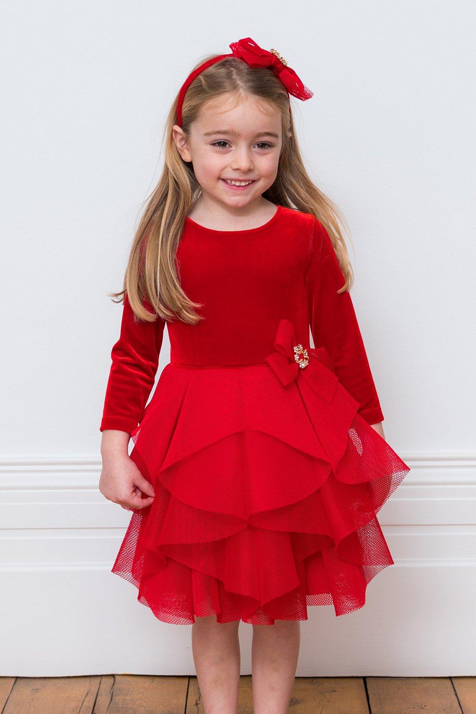 1de7eefecb18 Κόκκινο φόρεμα καταρράκτη - David Charles Παιδικά φορέματα