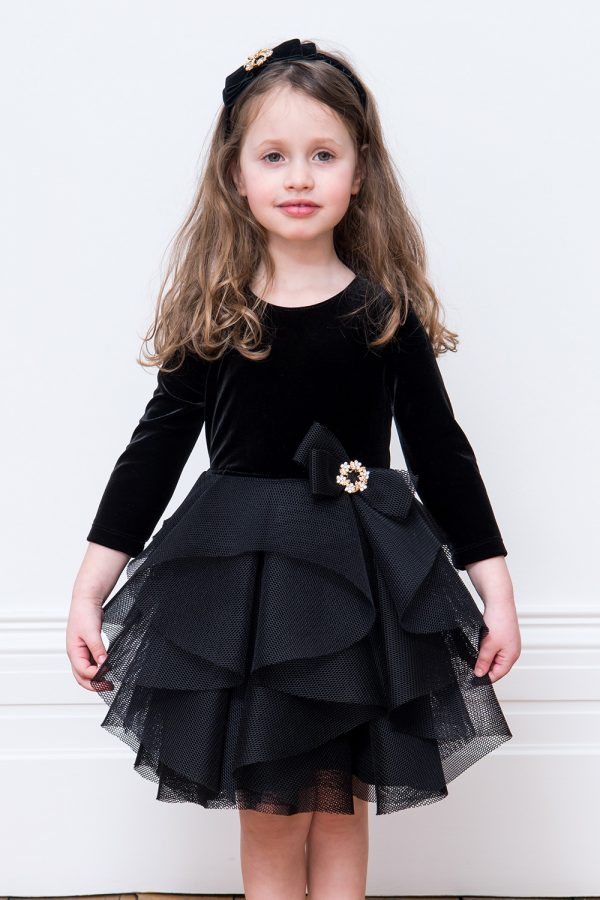 Black Waterfall Birthday Gown