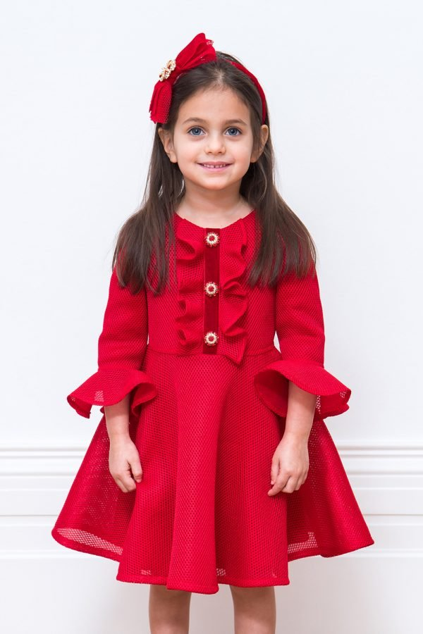 Red Jewelled Party Gown