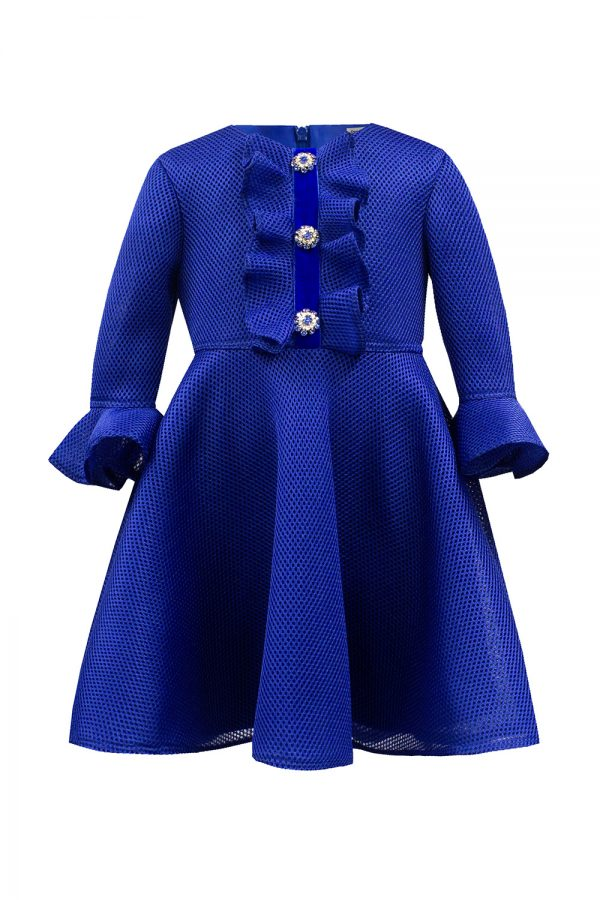 Royal Blue Jewel Fashion Dress
